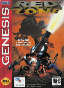 Box art for the game Red Zone