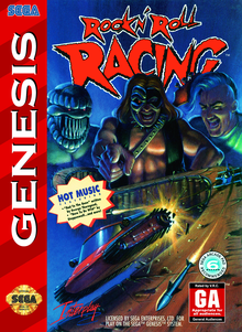 Box art for the game Rock 'n Roll Racing