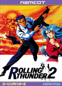 Box art for the game Rolling Thunder 2