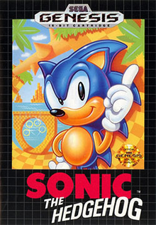 Box art for the game Sonic the Hedgehog (1991)