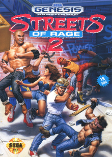 Box art for the game Streets of Rage 2