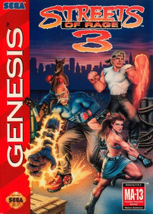 Box art for the game Streets of Rage 3