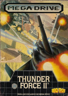 Box art for the game Thunder Force II