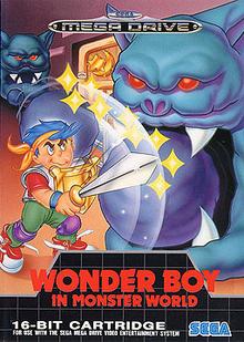 Box art for the game Wonder Boy in Monster World