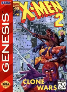 Box art for the game X-Men 2: Clone Wars