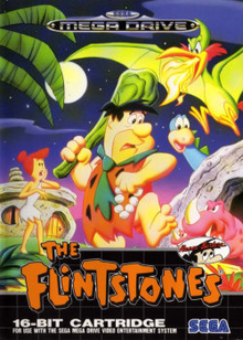Box art for the game The Flintstones