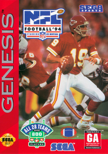 Box art for the game NFL Football '94 Starring Joe Montana