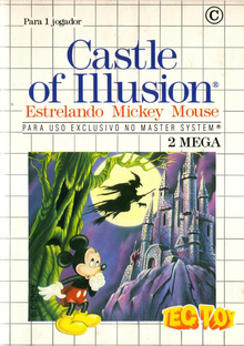Box art for the game Castle of Illusion Starring Mickey Mouse