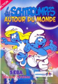 Box art for the game The Smurfs