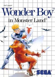 Box art for the game Wonder Boy in Monster Land