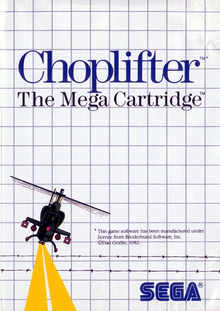 Box art for the game Choplifter!