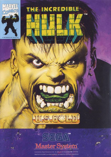 Box art for the game The Incredible Hulk