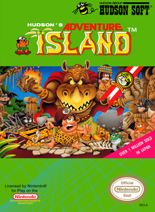 Box art for the game Adventure Island