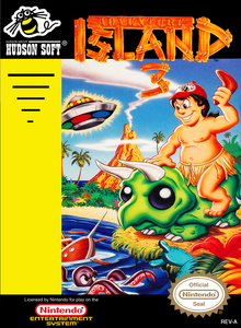 Box art for the game Adventure Island 3