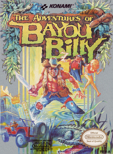 Box art for the game The Adventures of Bayou Billy