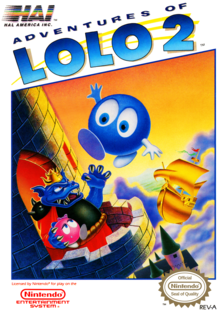 Box art for the game Adventures of Lolo 2