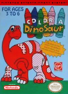 Box art for the game Color A Dinosaur