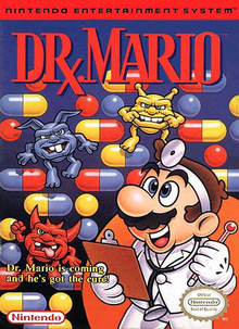 Box art for the game Dr. Mario