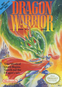 Box art for the game Dragon Warrior