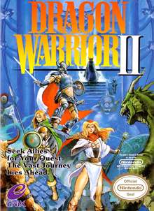 Box art for the game Dragon Warrior II