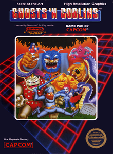 Box art for the game Ghosts 'N Goblins