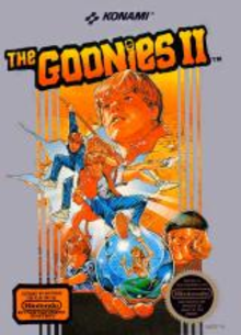 Box art for the game The Goonies 2