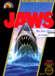 Box art for the game Jaws