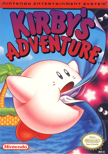 Box art for the game Kirby's Adventure