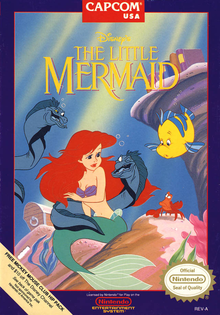 Box art for the game The Little Mermaid