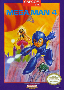 Box art for the game Mega Man 4