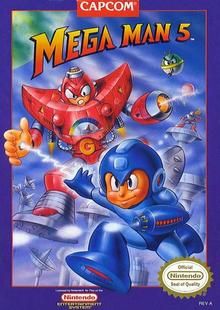 Capa do jogo Mega Man 5