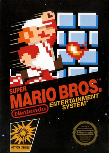 Box art for the game Super Mario Bros.