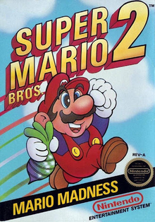 Box art for the game Super Mario Bros. 2