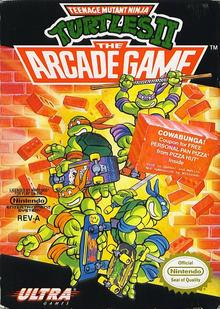 Box art for the game Teenage Mutant Ninja Turtles II: The Arcade Game
