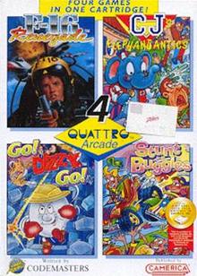 Box art for the game Quattro Arcade