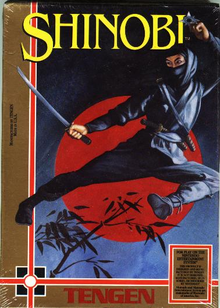 Box art for the game Shinobi