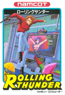 Box art for the game Rolling Thunder