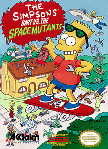 Box art for the game The Simpsons: Bart vs. The Space Mutants