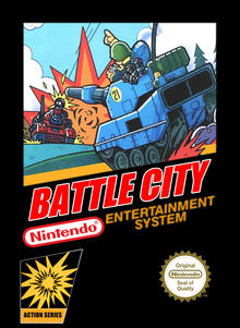 Box art for the game Battle City