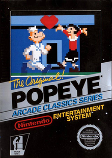 Box art for the game Popeye