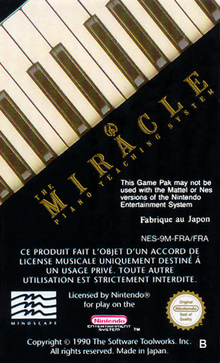 Box art for the game The Miracle Piano Teaching System