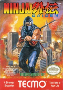 Box art for the game Ninja Gaiden 1