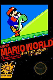 Box art for the game Super Mario World (Unlicensed)
