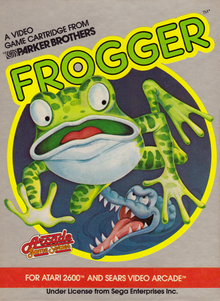 Box art for the game Frogger