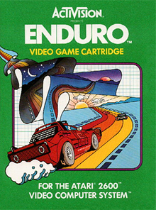 Box art for the game Enduro
