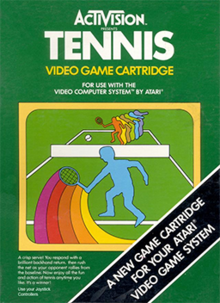 Box art for the game Tennis