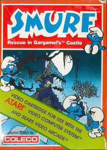 Box art for the game Smurf: Rescue In Gargamel's Castle
