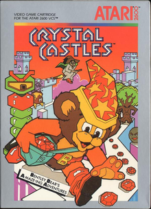 Box art for the game Crystal Castles