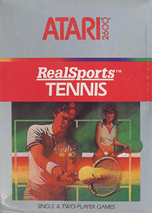 Box art for the game RealSports Tennis