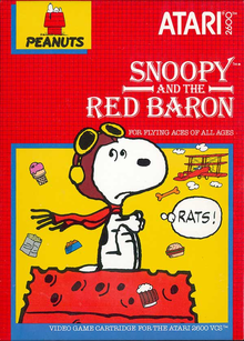 Box art for the game Snoopy & The Red Baron
